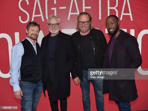 """Steve Zahn, Bradley Whitford, Matthew Carnahan and Lamorne Morris attend the SAG-AFTRA Foundation Conversations: """"Valley Of The Boom"""" at The Robin..."""