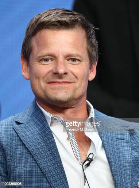 Steve Zahn of 'Valley of the Boom' speaks onstage during the National Geographic portion of the Summer 2018 TCA Press Tour at The Beverly Hilton...