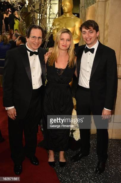 Steve Zeitlin Eliza Zeitlin and Director Benh Zeitlin arrive at the Oscars at Hollywood Highland Center on February 24 2013 in Hollywood California