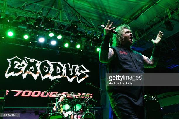 Steve 'Zetro' Souza of Exodus performs onboard the cruise liner 'Independence of the Seas' during the '70000 Tons of Metal' Heavy Metal Cruise...