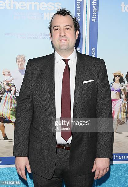 Steve Zissis arrives at the Premiere of HBO's 'Togetherness' held at Avalon on January 6, 2015 in Hollywood, California.