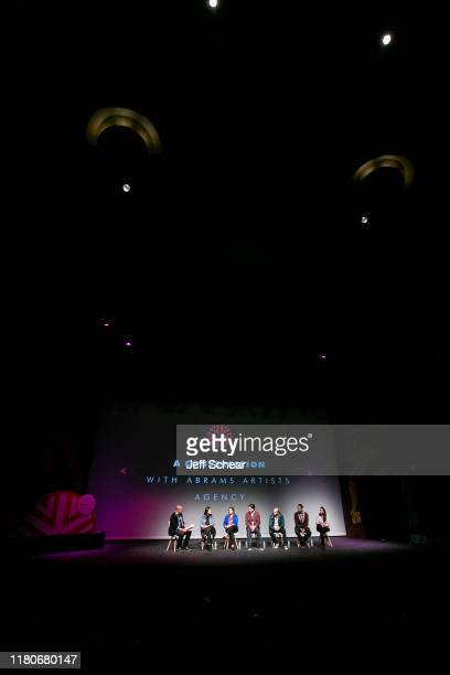 Steven Adams Sara Barkan Katie Gamelli Aron Giannini Max Grossman Alec Shankman and Jade Sherman attend the Catalyst Content Festival on October 12...
