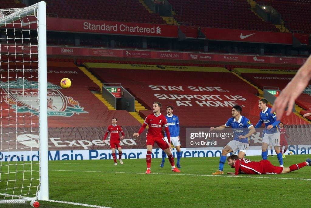 Liverpool v Brighton & Hove Albion - Premier League : Nachrichtenfoto