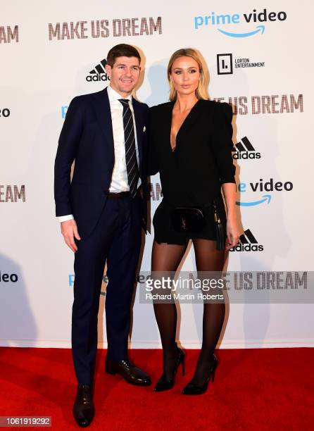 Steven and Alex Gerrard arrive at the Premiere of 'Make Us Dream' at FACT on November 15 2018 in Liverpool England