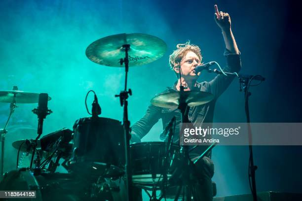 Steven Ansell from the band Blood Red Shoes opens for Pixies at Coliseum A Coruña on October 26 2019 in A Coruna Spain