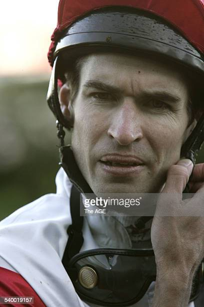 Steven Arnold after winning at Flemington Race 7 on the Danny O'Brien trained Threedee on 20th May 2006 THE AGE SPORT Picture by KEN IRWIN