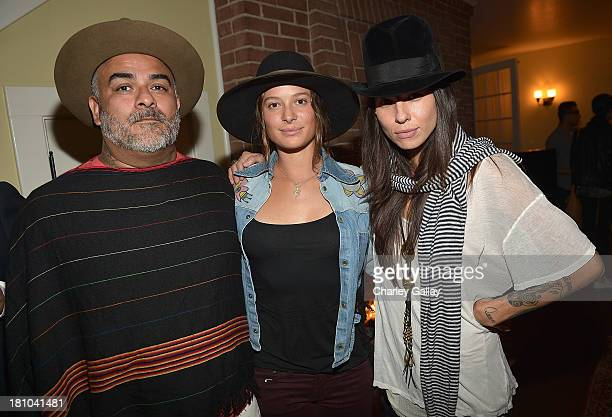 Steven Arroyo and Tasya Van Ree attend Erik Brunetti's FUCT Book Release Party Presented By RVCA at Chateau Marmont on September 18 2013 in Los...