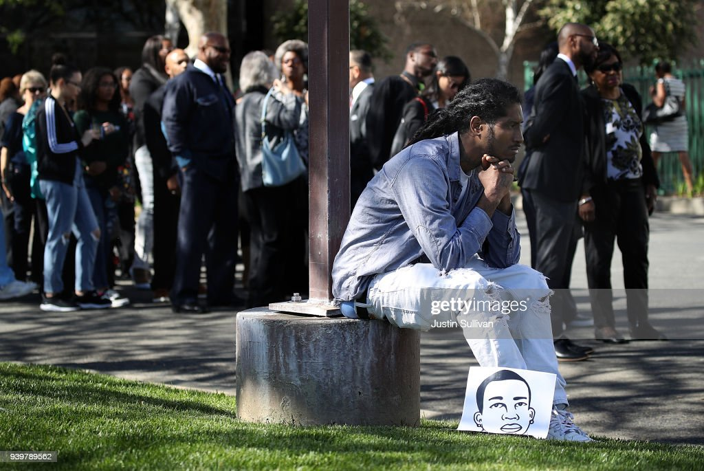 Funeral Services Held For Unarmed Man Killed By Sacramento Police : News Photo
