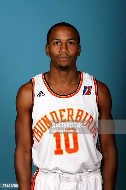 Steven Barber of the Albuquerque Thunderbirds poses for a portrait during DLeague media day on November 13 2007 at the Open Court in Lehi Utah NOTE...