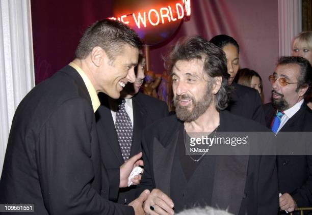 Steven Bauer and Al Pacino during Scarface 20th Anniversary Rerelease Celebration After Party in New York City New York United States
