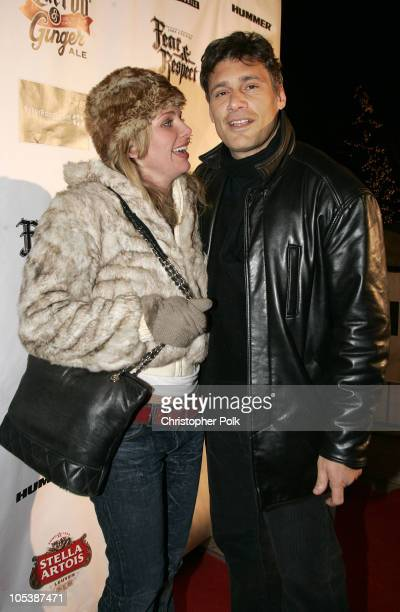 Steven Bauer and guest during 2005 Sundance Film Festival Hustle and Flow After Party at Premiere Lounge in Park City Utah United States
