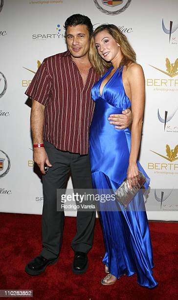 Steven Bauer and Katrina Campins during Shaquille O'Neal's 34th Birthday Celebration Arrivals in Miami Florida United States