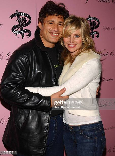Steven Bauer and Michelle Matheson during Wheels and Doll Baby Launch Party at Chateau Marmont in Los Angeles California United States