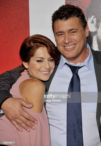 Steven Bauer and Nadia Lanfranconi arrive at the launch of Scarface on BluRay at the Belasco Theater on August 23 2011 in Los Angeles California