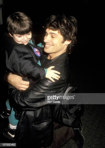 Steven Bauer and Son Dylan Bauer during Steven Bauer and Son Dylan Bauer Sighted at Miami International Airport January 23 1994 at Miami...