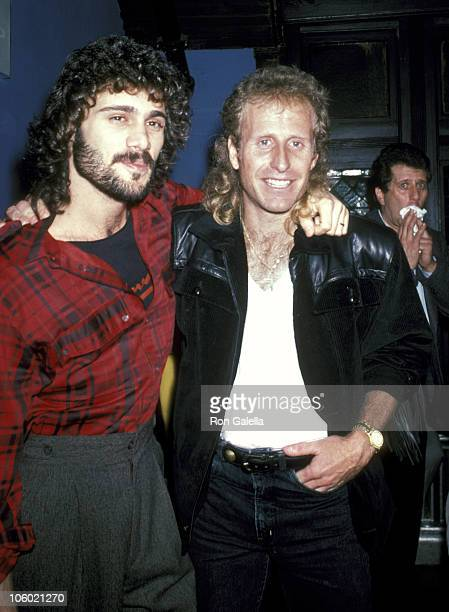 Steven Bauer and Vitas Gerulaitis during Steven Bauer and Vitas Gerulaitis Sighting at Limelight November 28 1985 at Limelight in New York City New...