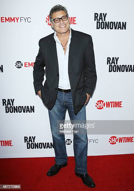Steven Bauer arrives at Showtime's Ray Donovan special screening and panel discussion held at Leonard H Goldenson Theatre on April 28 2014 in North...