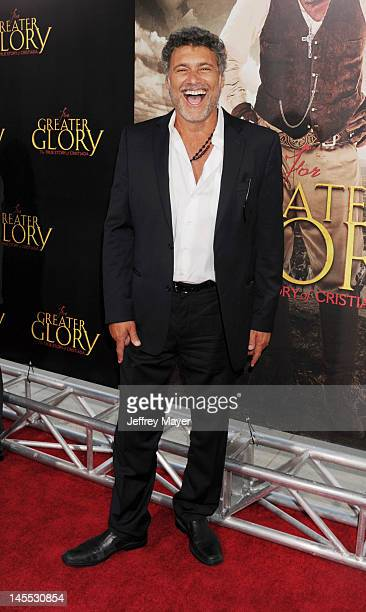 Steven Bauer attends the Los Angeles premiere of ARC Entertainment's 'For Greater Glory' at the at AMPAS Samuel Goldwyn Theater on May 31 2012 in...