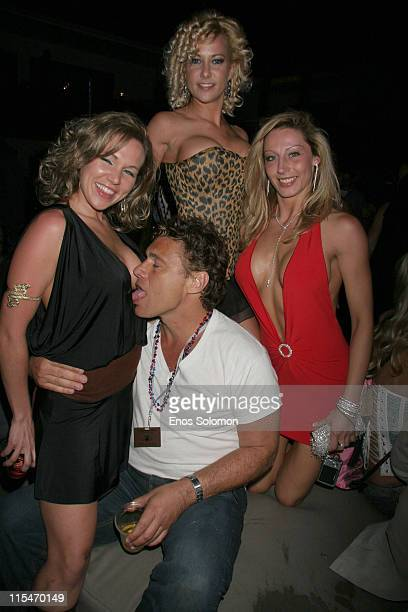 Steven Bauer with Playboy 'Girls Of Golf' Models during Playboy's 7th Annual Golf Scramble Championship Finals After Party at Roosevelt Hotel in...