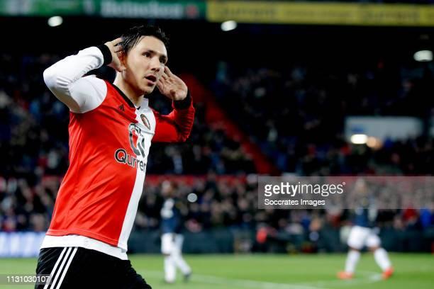 Steven Berghuis of Feyenoord celebrates 10 during the Dutch Eredivisie match between Feyenoord v Willem II at the Stadium Feijenoord on March 16 2019...