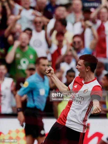 Steven Berghuis of Feyenoord celebrates 11 during the Dutch Eredivisie match between Feyenoord v Sparta at the Stadium Feijenoord on August 4 2019 in...