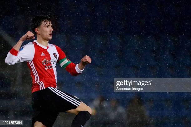 Steven Berghuis of Feyenoord celebrates 33 during the Dutch Eredivisie match between PEC Zwolle v Feyenoord at the MAC3PARK Stadium on February 16...