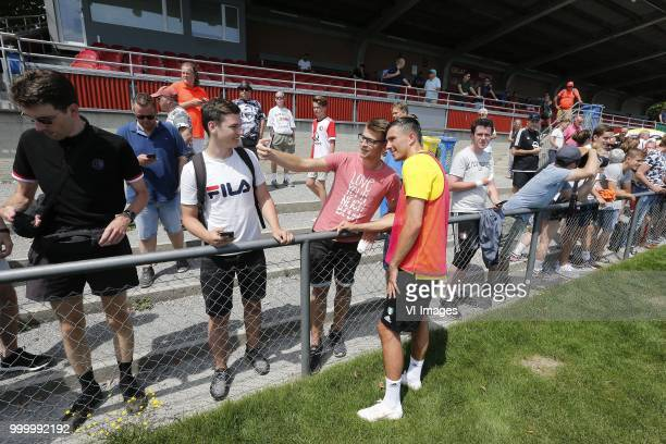 Steven Berghuis of Feyenoord during the training session of Feyenoord Rotterdam at stadium Lachen on Juli 12 2018 in Thun Zwitserland