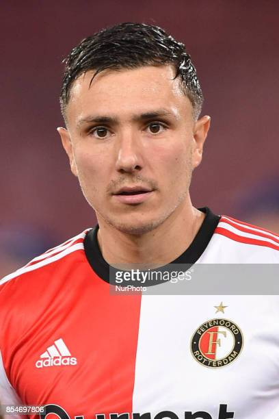 Steven Berghuis of Feyenoord during the UEFA Champions League Final match between SSC Napoli and Feyenoord at Stadio San Paolo Naples Italy on 27...