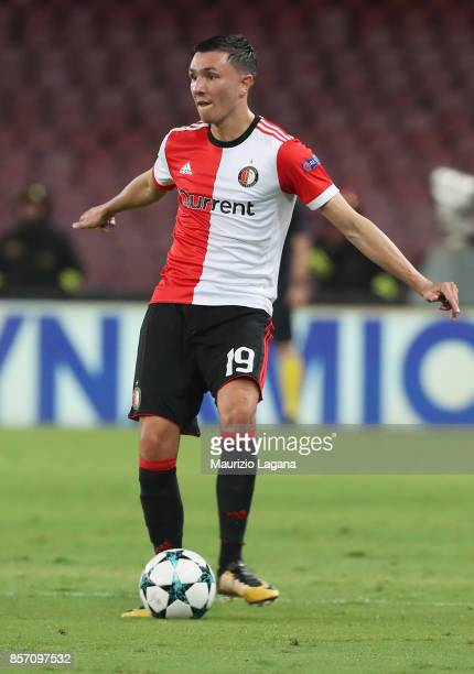 Steven Berghuis of Feyenoord during the UEFA Champions League group F match between SSC Napoli and Feyenoord at Stadio San Paolo on September 26 2017...