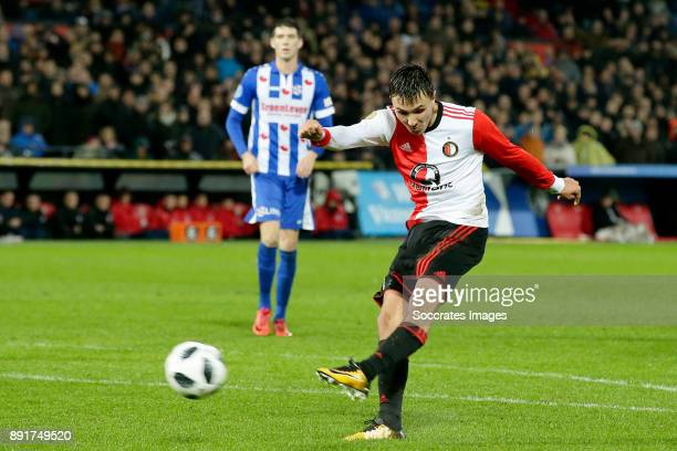 Steven Berghuis of Feyenoord scores the first goal to make it 10 during the Dutch Eredivisie match between Feyenoord v SC Heerenveen at the Stadium...