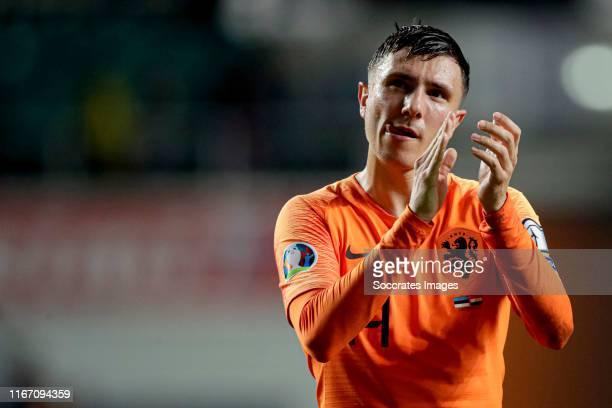 Steven Berghuis of Holland during the EURO Qualifier match between Estonia v Holland at the Lillekula Stadium on September 9 2019 in Tallinn Estonia