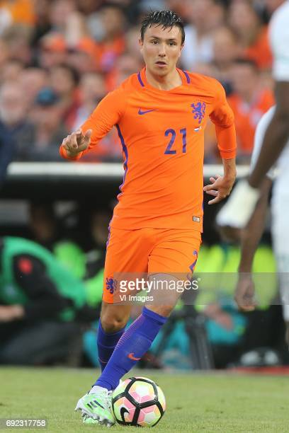 Steven Berghuis of Hollandduring the friendly match between The Netherlands and Ivory Coast at the Kuip on June 4 2017 in Rotterdam The Netherlands