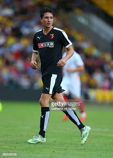 Steven Berghuis of Watford during the preseason friendly between Watford and Seville at Vicarage Road on July 31 2015 in Watford England
