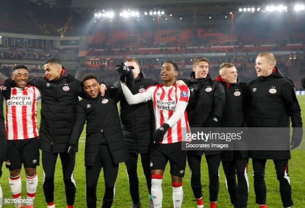 Steven Bergwijn of PSV Cody Gakpo of PSV Donyell Malen of PSV Yanick van Osch of PSV Pablo Rosario of PSV Ramon Lundqvist of PSV Albert Gudmundsson...