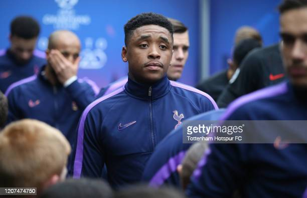 Steven Bergwijn of Tottenham Hotspur in the tunnel during the UEFA Champions League round of 16 first leg match between Tottenham Hotspur and RB...