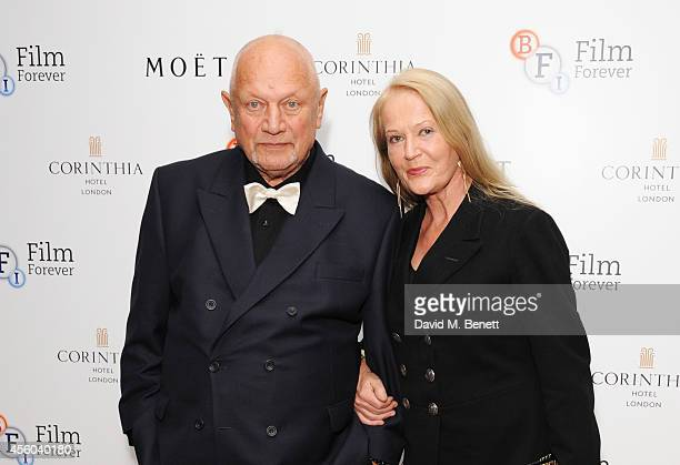 Steven Berkoff and Clara Fisher arrive at the Al Pacino BFI Fellowship Dinner supported by Moet Chandon at the Corinthia Hotel London on September 24...
