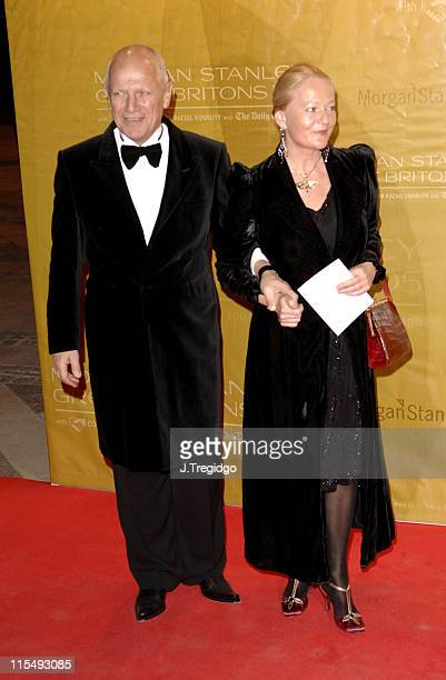 Steven Berkoff and Clara Fisher during Morgan Stanley Great Britons 2005 at Guildhall in London Great Britain