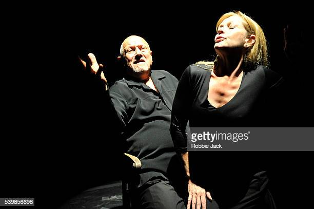 Steven Berkoff and Jay Benedict in Steven Berkoff's An Actors Lament at Underbelly as part of the Edinburgh Festival Fringe
