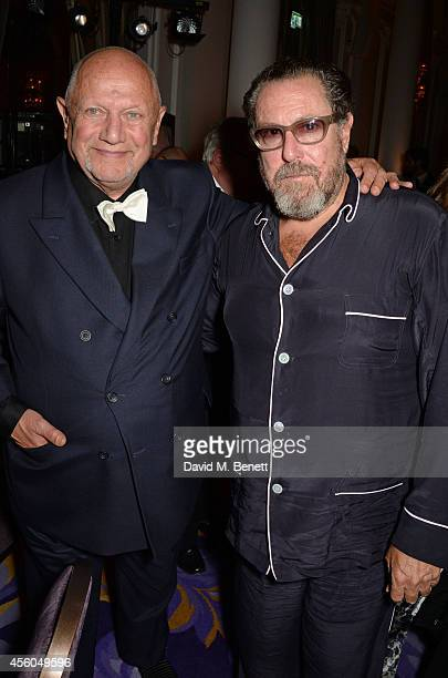 Steven Berkoff and Julian Schnabel attend the Al Pacino BFI Fellowship Dinner supported by Moet Chandon at the Corinthia Hotel London on September 24...