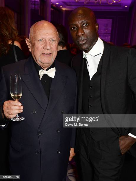 Steven Berkoff and Ozwald Boateng attend the Al Pacino BFI Fellowship Dinner supported by Moet Chandon at the Corinthia Hotel London on September 24...
