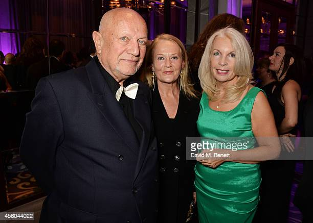 Steven Berkoff Clara Fisher and Amanda Nevill attend the Al Pacino BFI Fellowship Dinner supported by Moet Chandon at the Corinthia Hotel London on...