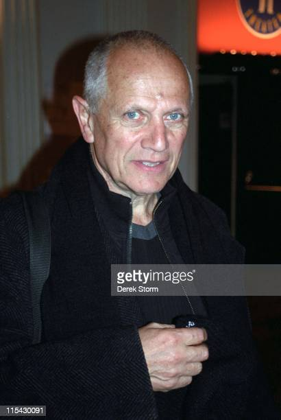 Steven Berkoff during Steven Berkoff exits the Public Theater after 'Shakespeare's Villains' at Public Theater in New York City New York United States
