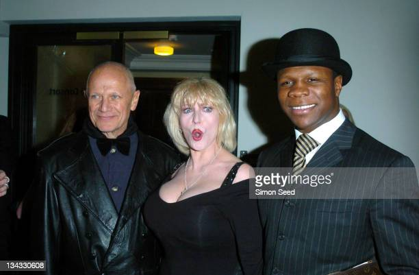 Steven Berkoff Faith Brown and Chris Eubank during 'Cirque Du Soleil Dralion' European Premiere at Royal Albert Hall in London Great Britain