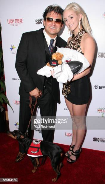 Steven Bernheim and singer Rachele Royale attends Children's Holiday Bowl and Toy Drive benefiting the Children of South LA's youth center A Place...