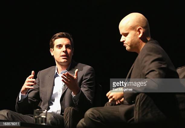 Steven Bertoni Associate Editor Forbes Magazine and Daniel Ek CEO CoFounder Spotify at Forbes 30 Under 30 Meet Spotify's Daniel Ek during the 2013...
