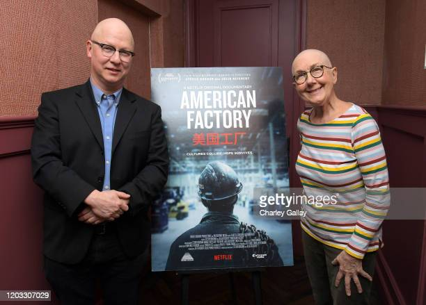 Steven Bognar and Julia Reichert attend the 'American Factory' AMPAS screening at Soho House on January 31 2020 in West Hollywood California