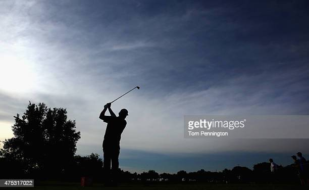 Steven Bowditch of Australia hits a tee shot on the 13th hole during Round Three of the ATT Byron Nelson at the TPC Four Seasons Resort Las Colinas...