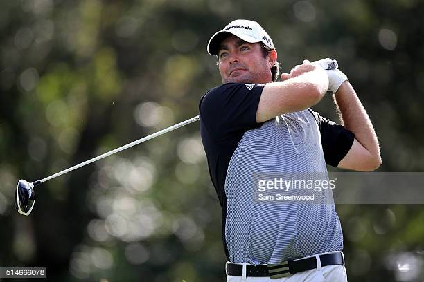 Steven Bowditch of Australia hits off the ninth tee during the first round of the Valspar Championship at Innisbrook Resort Copperhead Course on...
