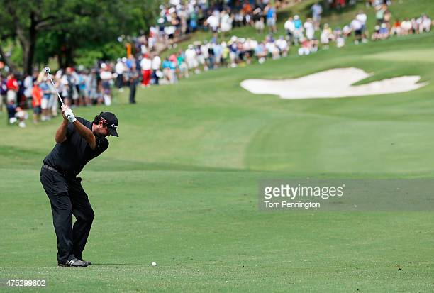 Steven Bowditch of Australia plays a shot to the first green during Round Three of the ATT Byron Nelson at the TPC Four Seasons Resort Las Colinas on...