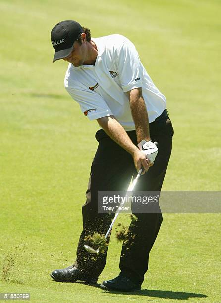 Steven Bowditch of Australia swings during day four of the Mastercard Masters at Huntingdale December 12, 2004 in Melbourne, Australia.